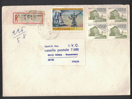 EW34     Portugal  Registered Cover Sent To Italy, S.Lazaro (Covilha) 28-7-1976 - Briefe U. Dokumente