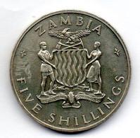 ZAMBIA, 5 Shillings, Copper-Nickel, Year 1965, KM #4 - Zambia