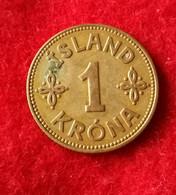 Iceland 1 Krona 1940 KM3.2 - Iceland