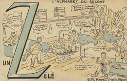 Militaria Humoristique L'ALPHABET DU SOLDAT  Un Zélé RVHALTE LA ! - Humour