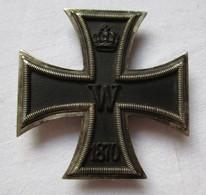 Seltenes Preußen Eisernes Kreuz 1870 1. Klasse Hersteller I.Wagner & S. (119534) - Avant 1871