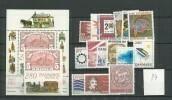 1987 MNH Denmark,year Complete, INCLUDING EXHIBITION BLOCK, Mi 888-904, Postfris - Volledig Jaar
