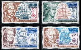 WALLIS ET FUTUNA 1973 - Yv. PA 44 à 47 **   Cote= 64,80 EUR - Grands Navigateurs (4 Val.)  ..Réf.W&F23159 - Unused Stamps