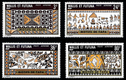 WALLIS ET FUTUNA 1975 - Yv. PA 58 59 60 Et 61 ** Cote= 19,70 EUR - Artisanat : Motifs De Tapas (4 Val.)  ..Réf.W&F23164 - Unused Stamps