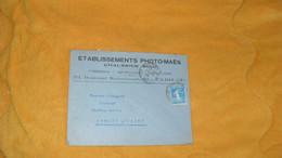ENVELOPPE ANCIENNE DE 1925../ ETABLISSEMENTS PHOTO MAES CHAUSSIER SUCCr PARIS IXe..CACHETS PARIS N°?. + TIMBRE - 1921-1960: Modern Period