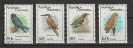 Gabon 1980 Oiseaux 442-445 4 Val ** MNH - Gabon