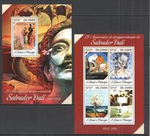 ST1643 2014 S.TOME E PRINCIPE ART GREAT PAINTERS SALVADOR DALI KB+BL MNH - Sonstige