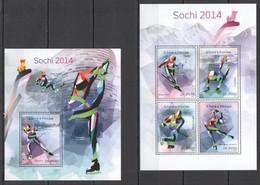 ST1660 2014 S.TOME E PRINCIPE SPORT OLYMPIC GAMES SOCHI 2014 KB+BL MNH - Invierno 2014: Sotchi