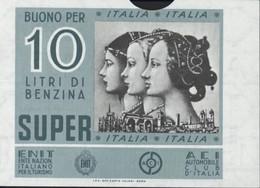 Bueno Per 10L Benzina Super Italia Automobile Club Ente Nazion Italiano Per Il Turismo Bon D'essence Choc Pétrolier - Altri