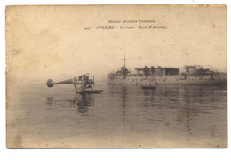 Marine Militaire Française FOUDRE Croiseur école / Hydravion - Guerra