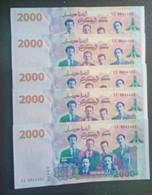 05 Billets Numéro Qui Ce Suiv 2000 Da De 2021 Algeria - Algeria