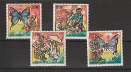 Togo 1990 Scouts, Champignons Et Papillons 1284-1287 4 Val ** MNH - Togo (1960-...)