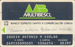 PORTUGAL - BES - MULTIBESCL - Credit Cards (Exp. Date Min. 10 Years)