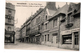 FOUGERES RUE PORTE ROGER COMMERCES ANIMEE - Fougeres