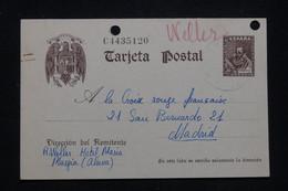 ESPAGNE - Entier Postal De Murgia Pour La Croix Rouge Française à Madrid En 1943 -  L 93501 - 1931-....