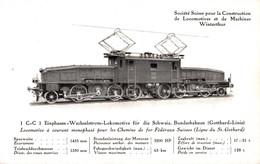 79494- Wechselstrom Lokomotive Eisenbahn Der Schweizer Bundesbahnen - Treinen