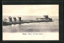 AK Rhodes, Phares, Fort Saint Nicolas - Grecia