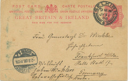 """GB SCOTTISH VILLAGE POSTMARKS """"SELKIRK"""" Superb Strike (26mm, Time Code """"9 45 PM"""") On EVII 1d Postal Stationery Postcard - Scotland"""