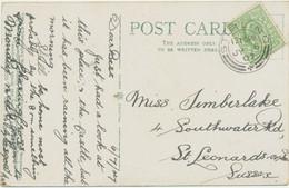 "GB SCOTTISH VILLAGE POSTMARKS ""STIRLING"" Superb Strike (24mm, UNCOMMON Time Code ""1210PM"") On Very Fine Postcard 1907 - Scotland"