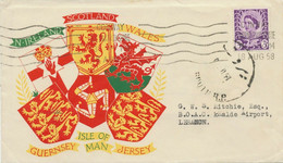 GB 1958 QEII Scotland 3 D (Second Class Airmail Zone A) FDC To BEYROUTH, Lebanon - Scotland