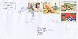 GOOD CUBA Postal Cover To ESTONIA 2020 - Good Stamped: Revolution ; Bird ; Saurus ; Columbus - Lettres & Documents