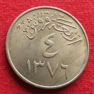 Saudi Arabia 4 Ghirsh 1956 / 1376 KM# 42 Arabia Saudita Arabie Saoudite - Saudi Arabia