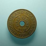 Rhodesia And Nyasaland 1/2 Penny 1958 - Rhodesia