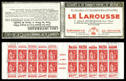N°283-C31, Série 309, LAROUSSE Et EU, Daté Du 25.11.33. TB  Qualité: ** - Usados Corriente
