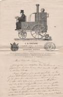 Lettre à En-tête -  C. D. CHATAING  à CLAMART (Seine), Rue De Paris   Inventeur Breveté  -  Datée Du 10 Février 1870 - Non Classificati