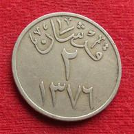 Saudi Arabia 2 Ghirsh 1956 - 1957 / 1376 KM# 41 Arabia Saudita Arabie Saoudite - Saudi Arabia