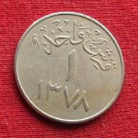 Saudi Arabia 1 Ghirsh 1958 / 1378 KM# 40 Arabia Saudita Arabie Saoudite - Saudi Arabia