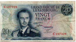 GRAND DUCHE DE LUXEMBOURG  VINGT FRANCS - Luxembourg