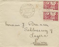 FRZ.OZEANIA 1940, Censored Letter From TARAVAO Via PAPEETE To Switzerland - Tahiti