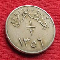 Saudi Arabia 1/2 Ghirsh 1937 / 1356 KM# 20.2 Reeded Edge Arabia Saudita Arabie Saoudite Qirsh - Saudi Arabia