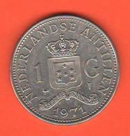Antille Olandesi 1 Gulden 1971 Nederlandse Antillen Nikel Coin - Netherland Antilles