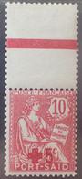 R2452/690 - 1915 - COLONIES FR. - PORT SAÏD - CROIX ROUGE - N°35 NEUF* BdF Avec Ligne D'encadrement - Unused Stamps