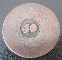 Brésil - Monnaie 40 / 80 Reis Contremarquée - Etat B (usée, Percée) - Brazilië