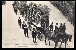 """Funérailles Des 27 Victimes Du """"Pluviose"""": Le Char Des Couronnes - Funerali"""
