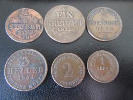 Allemagne + Auriche - 6 Monnaies Entre 1785 Et 1881 Dont 1/4 Stuber 1785, Ein Kreuzer 1816, Etc... - [11] Collezioni