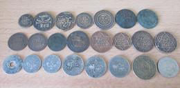 Maroc - Lot De Monnaies En Vrac Dont 1 Falus AH 1263 (1847), 4 Falus AH 1288 (1871) Et AH 1290 (1873) - Marokko