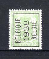PRE330A MNH** 1938 - BELGIQUE 1938 BELGIE - Typo Precancels 1936-51 (Small Seal Of The State)