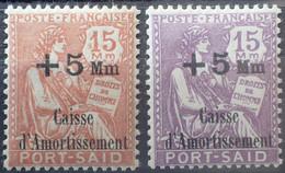 R2452/695 - 1929/1930 - COLONIES FR. - PORT SAÏD - TYPE MOUCHON - N°88 à 89 NEUFS* - Unused Stamps