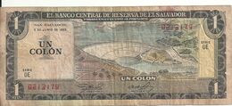 EL SALVADOR 1 COLON 1982 VG+ P 133A - El Salvador