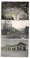 3 CARTES PHOTOS - 17 - SAINTES - LA GARE - ATELIER DE FERRAGE  - BOMBARDEMENT 44 RECONSTRUCTION EN 47 - Saintes