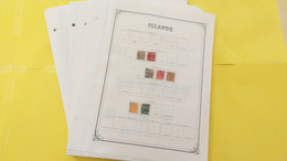 Lot N° TH 390 ISLANDE , Norvege  Bon Debut De Collection Sur Page D'albums  Neufs X Ou Obl. - Sammlungen (im Alben)