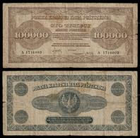 POLAND BANKNOTE - 100000 MAREK 1923 P#34 F (NT#04) - Poland