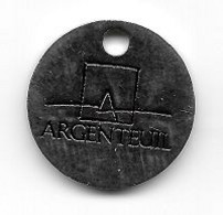 Jeton De Caddie  Argenté  Ville  ARGENTEUIL  Verso  1 €  ( 78 ) - Munten Van Winkelkarretjes