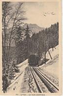 LEYSIN  ( SUISSE  )  LE  TRAIN  ÉLECTIQUE  - C P A   ( 21 / 3 / 344  ) - VD Vaud