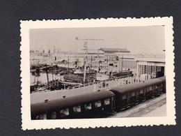 Photo Originale Vintage Snapshot Boulogne Sur Mer Gare Maritime Train   46171 - Places