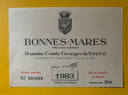 19078 - Bonnes-Mares 1983 Domaine Comte Georges De Vogüé - Bourgogne